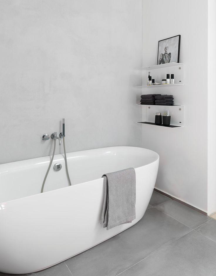 Piso para banheiro: branco e preto