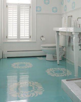 Piso para banheiro: azul