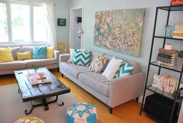Decoração de sala: futon