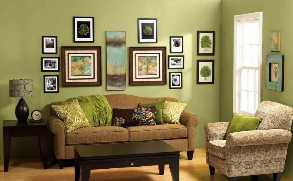 Decoração de sala: parede verde