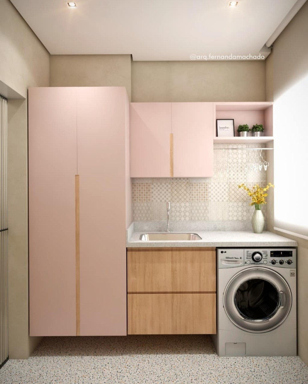 Lavanderia: cor de rosa