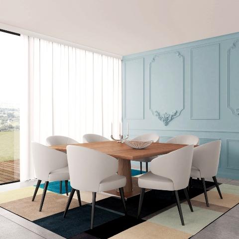 Boiserie: sala de jantar azul
